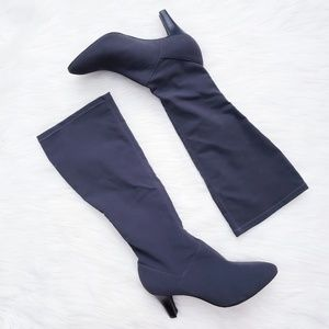 Alex Marie Charcoal Grey Stretch Knee High Boots